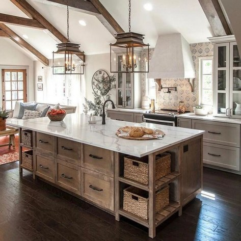 Fantastic Farmhouse Kitchen Cabinets Ideas For Home 44