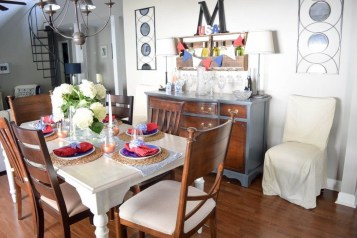 Inexpensive 4th Of July Decoration Ideas In The Dining Room 17