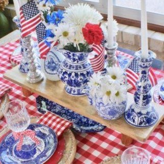 Inexpensive 4th Of July Decoration Ideas In The Dining Room 30
