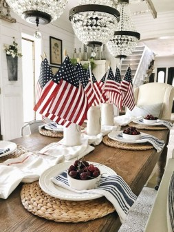 Inexpensive 4th Of July Decoration Ideas In The Dining Room 42