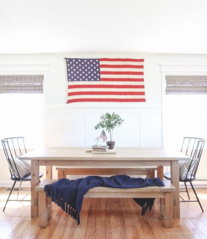 Inexpensive 4th Of July Decoration Ideas In The Dining Room 48