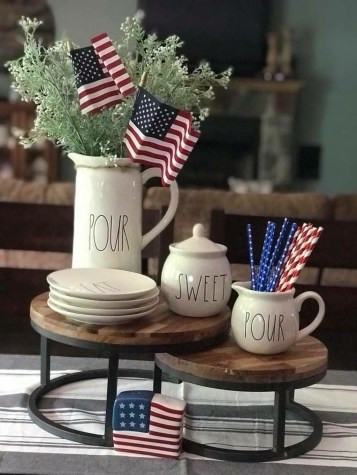 Inexpensive 4th Of July Decoration Ideas In The Dining Room 50