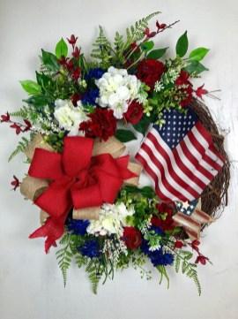 Pratiotic Handmade 4th Of July Wreath Ideas 09
