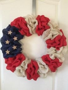 Pratiotic Handmade 4th Of July Wreath Ideas 10