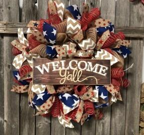Pratiotic Handmade 4th Of July Wreath Ideas 39