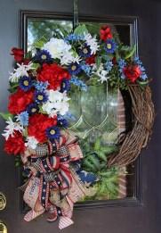 Pratiotic Handmade 4th Of July Wreath Ideas 51