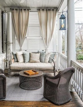 Stunning Balcony Decoration Ideas With Seating Areas 15