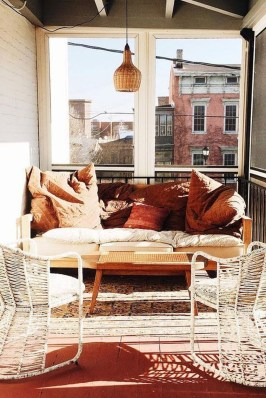 Stunning Balcony Decoration Ideas With Seating Areas 27