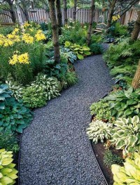 Awesome Small Garden Ideas With Stone Path 11