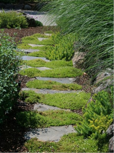Awesome Small Garden Ideas With Stone Path 15