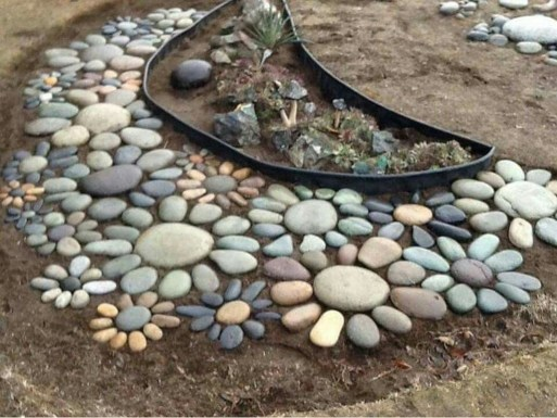 Awesome Small Garden Ideas With Stone Path 27