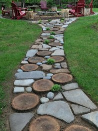 Awesome Small Garden Ideas With Stone Path 42