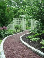Awesome Small Garden Ideas With Stone Path 50