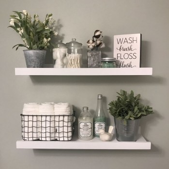 Brilliant Bathroom Storage Ideas For Your Bathroom Design 42