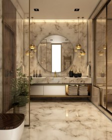 Elegant Bathroom Lighting Ideas To Brighten Your Style 28
