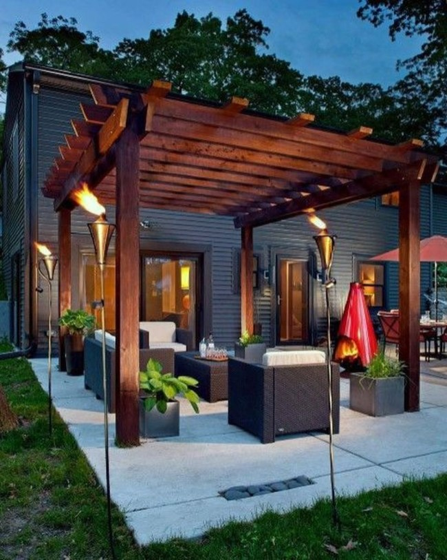 Inspiring Backyard Patio Design Ideas With Beautiful Landscaping 29