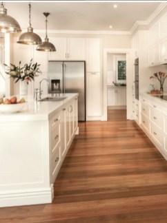 Stunning Wood Floor Ideas To Beautify Your Kitchen Room 04