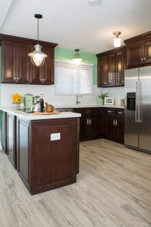 Stunning Wood Floor Ideas To Beautify Your Kitchen Room 08