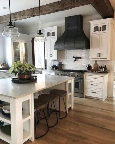 Stunning Wood Floor Ideas To Beautify Your Kitchen Room 22