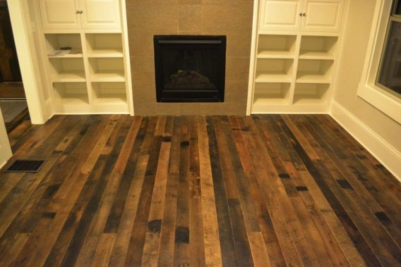Stunning Wood Floor Ideas To Beautify Your Kitchen Room 25