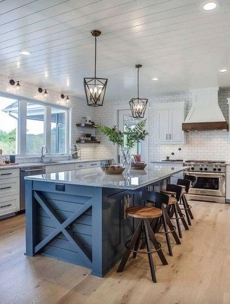 Stunning Wood Floor Ideas To Beautify Your Kitchen Room 27