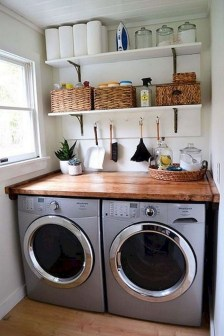 Wonderful Laundry Room Decorating Ideas For Small Space 01