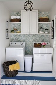 Wonderful Laundry Room Decorating Ideas For Small Space 13