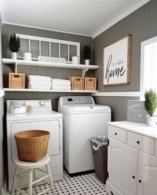 Wonderful Laundry Room Decorating Ideas For Small Space 17