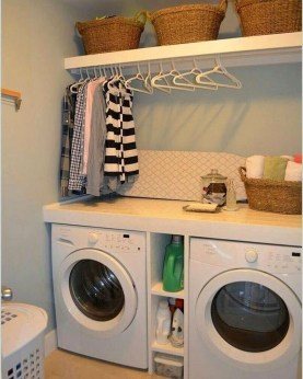 Wonderful Laundry Room Decorating Ideas For Small Space 25