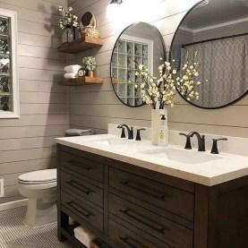 Amazing Bathroom Decor Ideas With Farmhouse Style 21