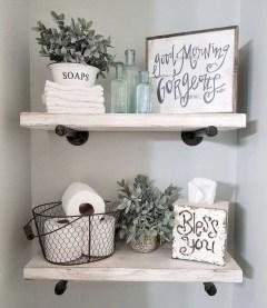 Amazing Bathroom Decor Ideas With Farmhouse Style 22