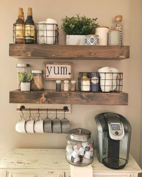 Fantastic DIY Coffee Bar Ideas For Your Home 16
