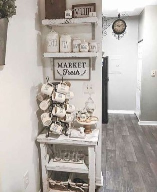 Fantastic DIY Coffee Bar Ideas For Your Home 27