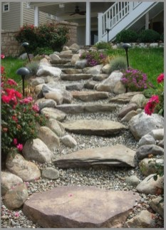 Newest Stepping Stone Pathway Ideas For Your Garden 11