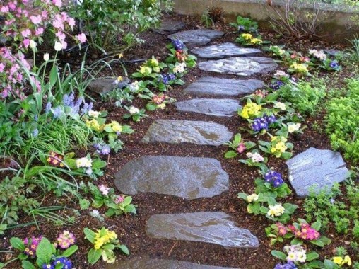 Newest Stepping Stone Pathway Ideas For Your Garden 15