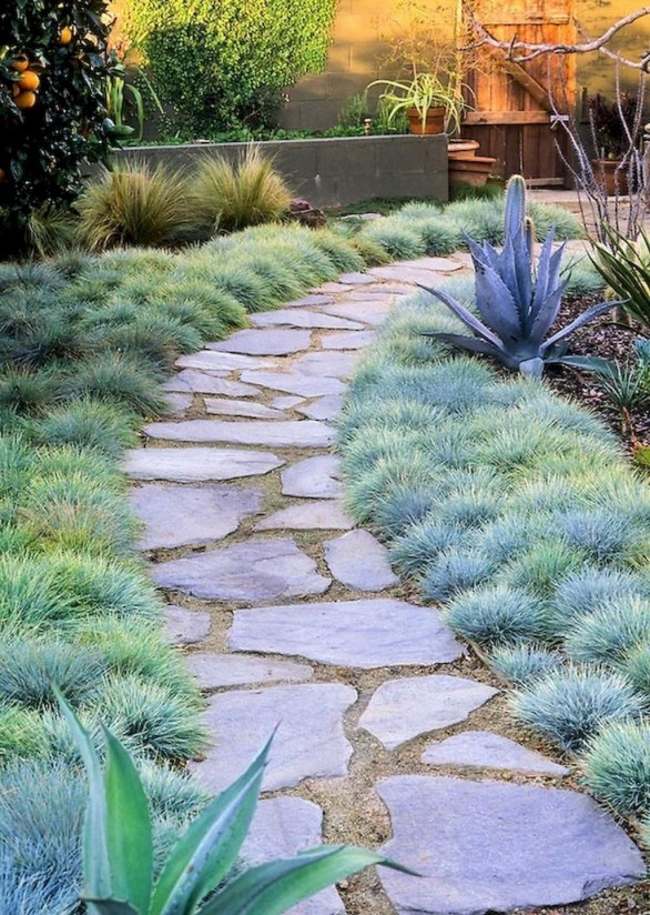 Newest Stepping Stone Pathway Ideas For Your Garden 27