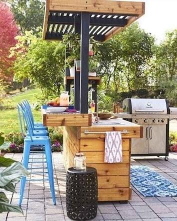 Unusual DIY Outdoor Bar Ideas On A Budget 21