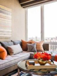 Adorable Colorful Pillow Ideas For Cozy Living Room 45