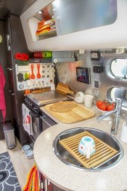 Best RV Kitchen Storage Ideas For Cozy Cook When The Camping 31