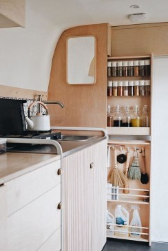 Best RV Kitchen Storage Ideas For Cozy Cook When The Camping 48