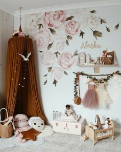 Awesome Child's Room Ideas With Wall Decoration 19