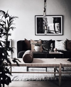 Cute Monochrome Living Room Decoration You Must Have 03