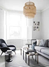 Cute Monochrome Living Room Decoration You Must Have 04