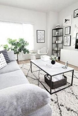 Cute Monochrome Living Room Decoration You Must Have 26