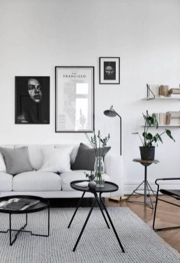 Cute Monochrome Living Room Decoration You Must Have 33