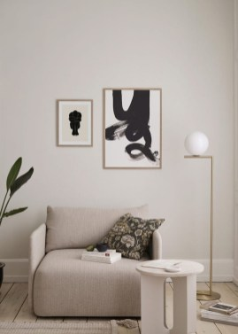 Cute Monochrome Living Room Decoration You Must Have 34