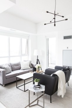Cute Monochrome Living Room Decoration You Must Have 42