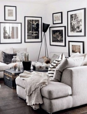 Cute Monochrome Living Room Decoration You Must Have 44