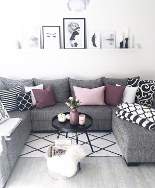Cute Monochrome Living Room Decoration You Must Have 45
