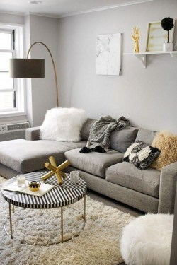 Cute Monochrome Living Room Decoration You Must Have 51